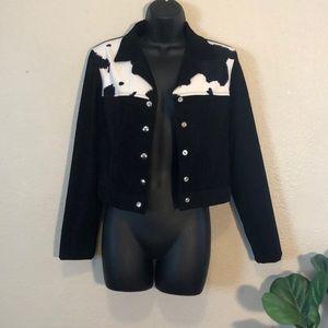 No Boundaries Cow Print Jacket